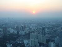 Sonnenuntergang über Bangkok