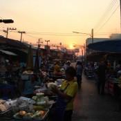 Sonnenuntergang Auf Dem Nachtmarkt