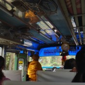 im Bus nach Sangkhom