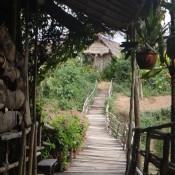 die Brücke zu unserer Hütte