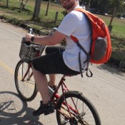 ir en una bicicleta