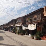 acogedoras calles y casas en Chiang Khan