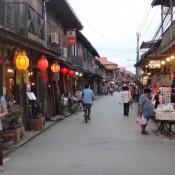 in den Strassen von Chiang Khan