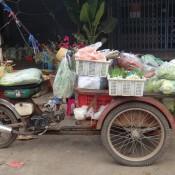 Tuk Tuk Als Gemüse Transporter