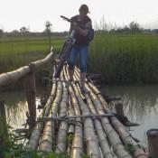 Eine Wacklige Angelegenheit über Die Bambusbrücke
