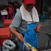 Unser Tintenfisch Wird Zubereitet