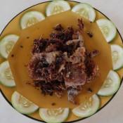 Gebratenes Schwein Mit Pfeffer Und Knoblauch