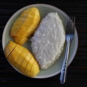 Sticky Rice, Mit Kokosnußmilch Und Mango