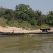 Entgegenkommendes Fischerboot Auf Dem Mekong