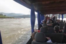 unser Boot (Sabaidee Laos! 2 Tage Flussfahrt auf dem Mekong)