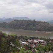 Ausblick Vom That Phu Si Auf Den Mekong
