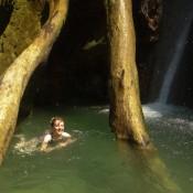Am Ziel – Abkühlung Unterm Wasserfall