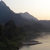 Nong Khiaw Bei Sonnenuntergang