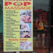 Zweideutiges Massageangebot