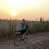 Fahrradtour Bei Sonnenuntergang