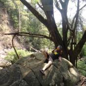 Verschnaufpause Am Wasserfall