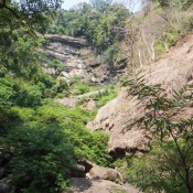 Wasserfall Tat Namsanam Mit Sehr Wenig Wasser