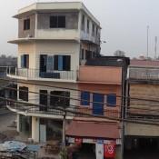 Blick Von Unserem Balkon Auf Die Stadt