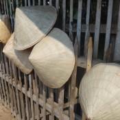 Typische Bambushüte