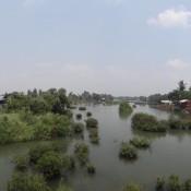Blick Von Der Brücke Zwischen Don Det Und Don Khon