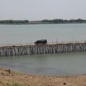 Bambusbrücke Zur Insel Kho Paen