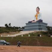 Buddha Statue Auf Dem Bokor Hill