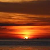 Ein Perfekter Sonnenuntergang Am Sairee Beach