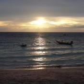 Noch Ein Schöner Sonnenuntergang Am Sairee Beach