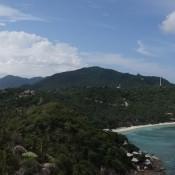 Blick Auf Koh Tao Vom John Suwan Rock (links Taa Toh Bay, Rechts