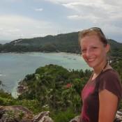 Auf Dem John Suwan Rock (taa Toh Bay Im Hintergrund)