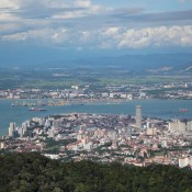 Blick Vom Penang Hill Auf George Town