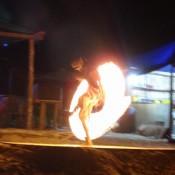 Feuershow Am Long Beach
