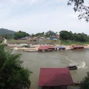 Ausblick Auf Die Schwimmenden Restaurants