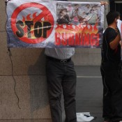 Demonstration Gegen Das Abbrennen Der Regenwälder In Sumatra