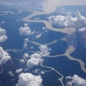 Flug Nach Miri – Borneo Von Oben