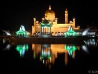 """""""omar Ali Saifuddien"""" Moschee Bei Nacht"""