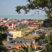 Blick Vom St. John's Fort über Melaka