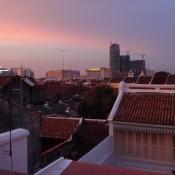 Blick über Die Dächer Von Melaka