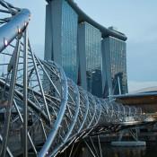 Helix Brücke Und Marina Bay Sands Hotel