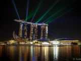 Lasershow Am Marina Bay Sands Hotel