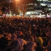 Menschenmassen Beim Singapore Night Festival