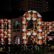 Lichtershow Beim Singapore Night Festival