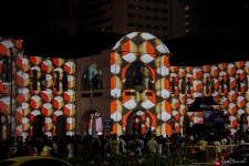 Lichtershow beim Singapore Night Festival (Eine Pause vom Reisen in Singapur)