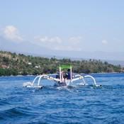Mit Dem Tauchboot Zurück Zum Strand Nach Amed