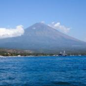 Blick Auf Den Vulkan Gunung Agung