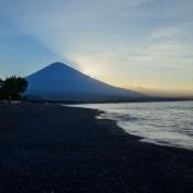 Sonnenuntergang Am Vulkan Gunung Agung