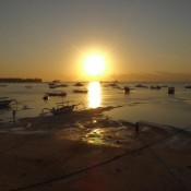 Sonnenuntergang Am Jungutbatu Beach