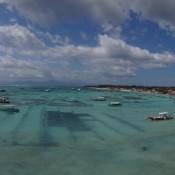 Blick Auf Den Jungutbatu Beach Und Die Seegrasfelder