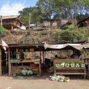 Marktstände Am Straßenrand Auf Dem Weg Nach Moni