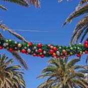 Weihnachtsdekoration An Palmen